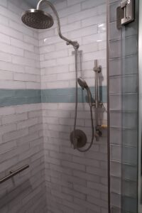 Shower Tile and Fixtures