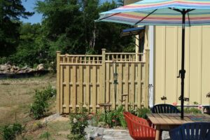 Decorative Accent at the Top of Fencing