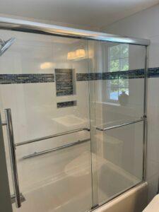 Mosaic Tile Detail in Shower