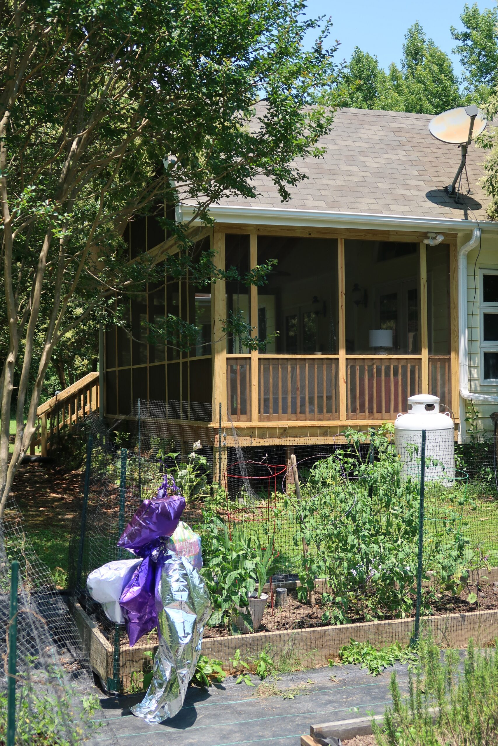 Side View of Porch and Garden